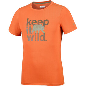 Columbia Miller Valley Short Sleeve Tee Men Backcountry Orange